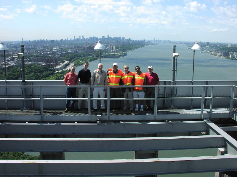 RCNJ atop the George Washington Bridge