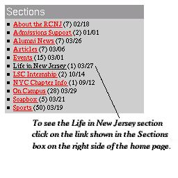 Choosing the Life in NJ Section